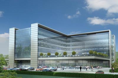 הדמיית בניין משרדים להשכרה בהרצליה